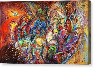 The Temptation Of Eve Canvas Print by Elena Kotliarker