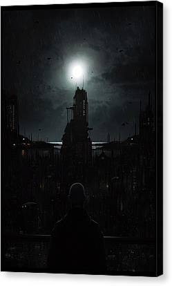 The Tenebrous Sprawl Canvas Print by Martin Bland