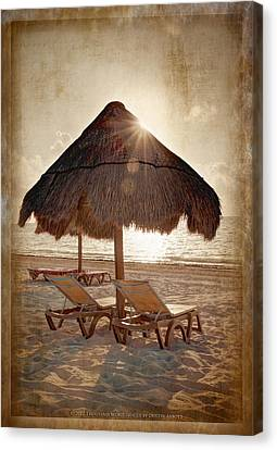 Kim Klassen Texture Canvas Print - The Texture Of Paradise by Dustin Abbott