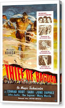 The Thief Of Bagdad, Rex Ingram, 1940 Canvas Print by Everett