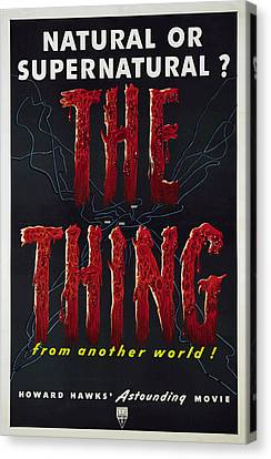 The Thing Aka The Thing From Another Canvas Print by Everett