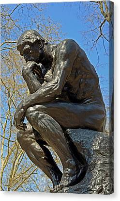 The Thinker By Rodin Canvas Print by Lisa Phillips