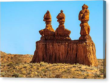 San Rafael Swell Canvas Print - The Three Goblins by Robert Bales