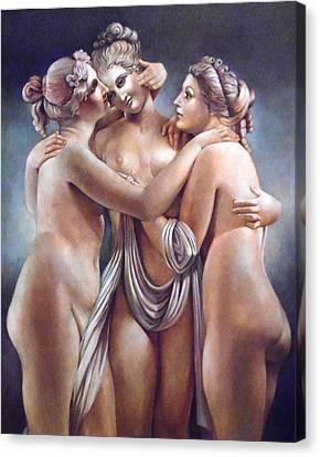 The Three Graces Canvas Print by Geraldine Arata