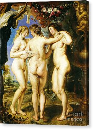 The Three Graces Canvas Print by Pg Reproductions