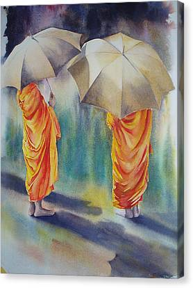 The Three Monks Canvas Print