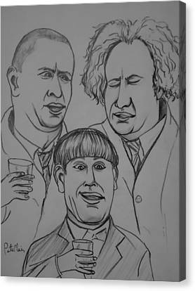 The Three Stooges Canvas Print by Pete Maier