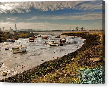 Paddys Hole Canvas Print - The Tide Is Out. by Trevor Kersley