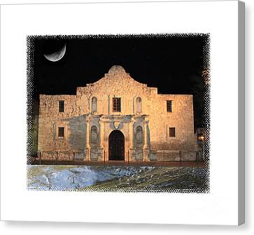 The Tide Is Rising At The Alamo Canvas Print