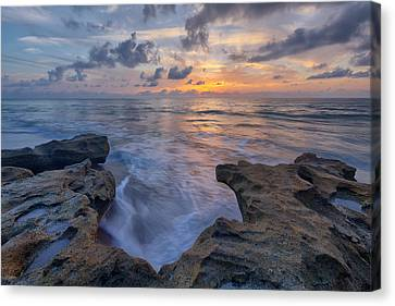 The Tide Rushes In Canvas Print by Claudia Domenig
