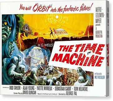 Jbp10ma14 Canvas Print - The Time Machine, Style B Half-sheet by Everett