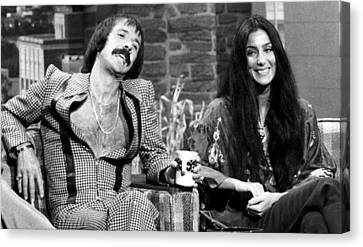 The Tonight Show, Sonny & Cher, 1975 Canvas Print by Everett