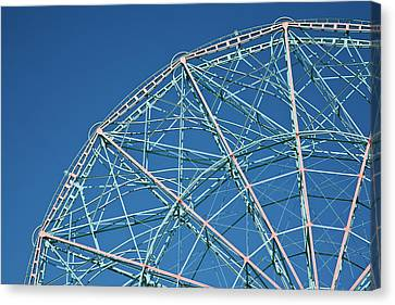 The Top Of A Ferris Wheel, Low Angle View Canvas Print by Frederick Bass