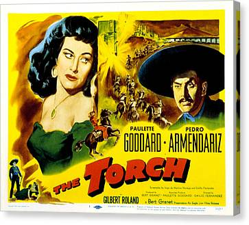 The Torch, Paulette Goddard, Pedro Canvas Print by Everett