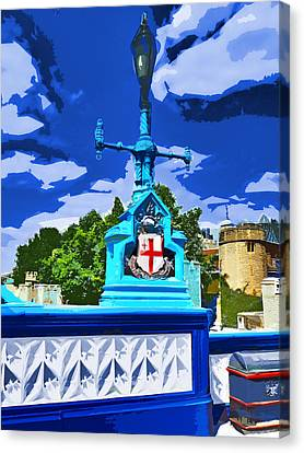 The Tower Lamp Post Canvas Print by Steve Taylor
