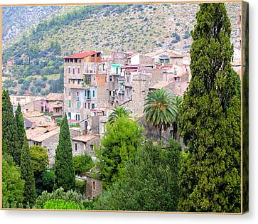 The Town Of Tivili Canvas Print by Mindy Newman