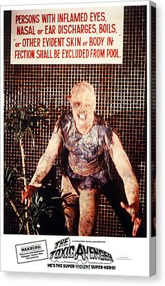 The Toxic Avenger, Mitch Cohen, 1985 Canvas Print by Everett