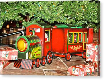 Canvas Print featuring the photograph The Toy Train by Ann Murphy
