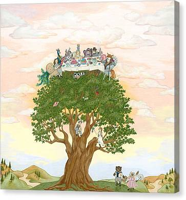 The Tree Party Canvas Print by SiSter Art