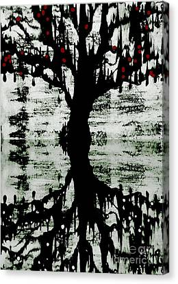 Canvas Print featuring the painting The Tree The Root by Amy Sorrell