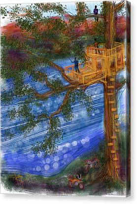 Mountain View Canvas Print - The Treehouse by Russell Pierce