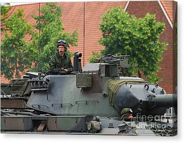 The Turret Of The Leopard 1a5 Main Canvas Print by Luc De Jaeger