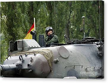 The Turret Of The Leopard 1a5 Mbt Canvas Print by Luc De Jaeger