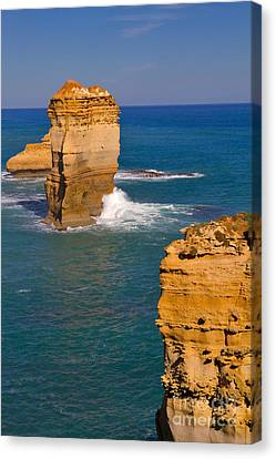 The Twelve Apostles In Port Campbell National Park Australia Canvas Print by Louise Heusinkveld
