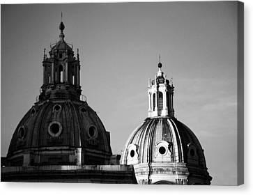 The Twin Domes Of S. Maria Di Loreto And Ss. Nome Di Maria Canvas Print by Fabrizio Troiani