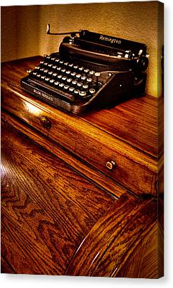 The Typewriter Canvas Print by David Patterson