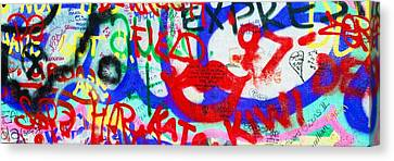 The U2 Wall, Windmill Lane, Dublin Canvas Print by The Irish Image Collection