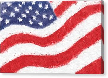 The United States Flag Canvas Print by Heidi Smith