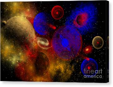 The Universe And Its Wondrous Colors Canvas Print by Mark Stevenson