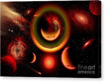 The Universe Is A Place Of Intense Canvas Print by Mark Stevenson