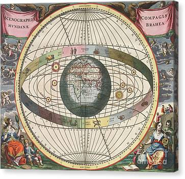 The Universe Of Brahe Harmonia Canvas Print by Science Source