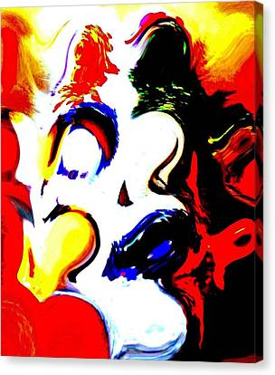 The Unmasking Of Youth Canvas Print by Jackie Bodnar