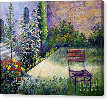Canvas Print featuring the painting The Unseen Guest by Lou Ann Bagnall