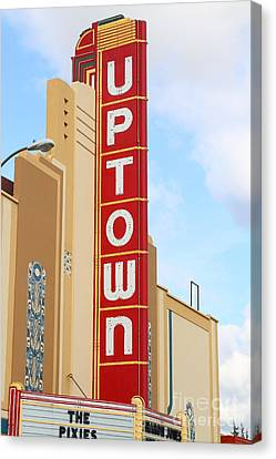 The Uptown Theater In Napa California Wine Country . 7d8982 Canvas Print by Wingsdomain Art and Photography
