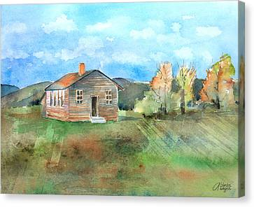 The Vacant Schoolhouse Canvas Print by Arline Wagner