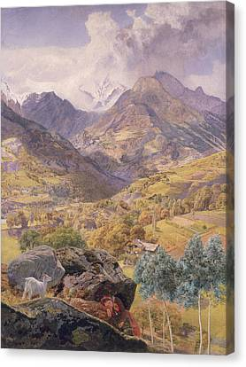 The Val D'aosta Canvas Print