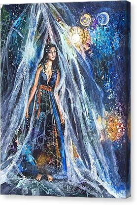 The Veil Is Parted The Three Fates II Canvas Print by Patricia Allingham Carlson