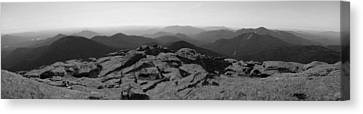 The View North From Mt. Marcy Black And White Three Canvas Print by Joshua House