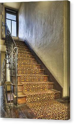 The Villa Rosa Apartments Building Canvas Print by Dan Kaufman