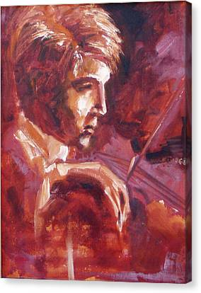 Canvas Print featuring the painting The Violinist by Walter Fahmy