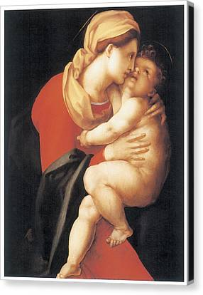 The Virgin And Child Canvas Print by Jacopo Da Pontormo