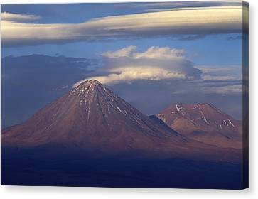 The Volcano Llicancabur. Republic Of Bolivia. Canvas Print by Eric Bauer
