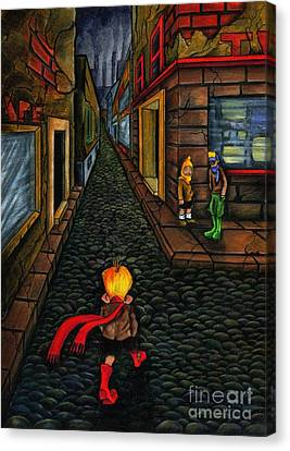 The Walk Of Loneliness Canvas Print by Spencer Bower