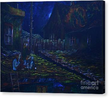 The Wall In Left Field Canvas Print