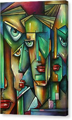 The Wall Canvas Print by Michael Lang