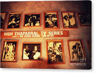 The Wall Of Fame In Old Tuscon Az Canvas Print by Susanne Van Hulst